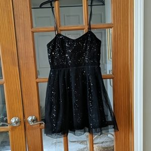 Black sequen homecoming dress